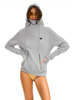 Aviator Nation Ninja Pullover Hoodie Light Grey