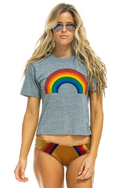 Aviator Nation Big Rainbow Boyfriend Tee Heather