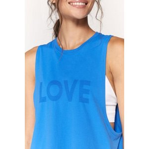 Spiritual Gangster Love Active Flow Top Blue Paradise