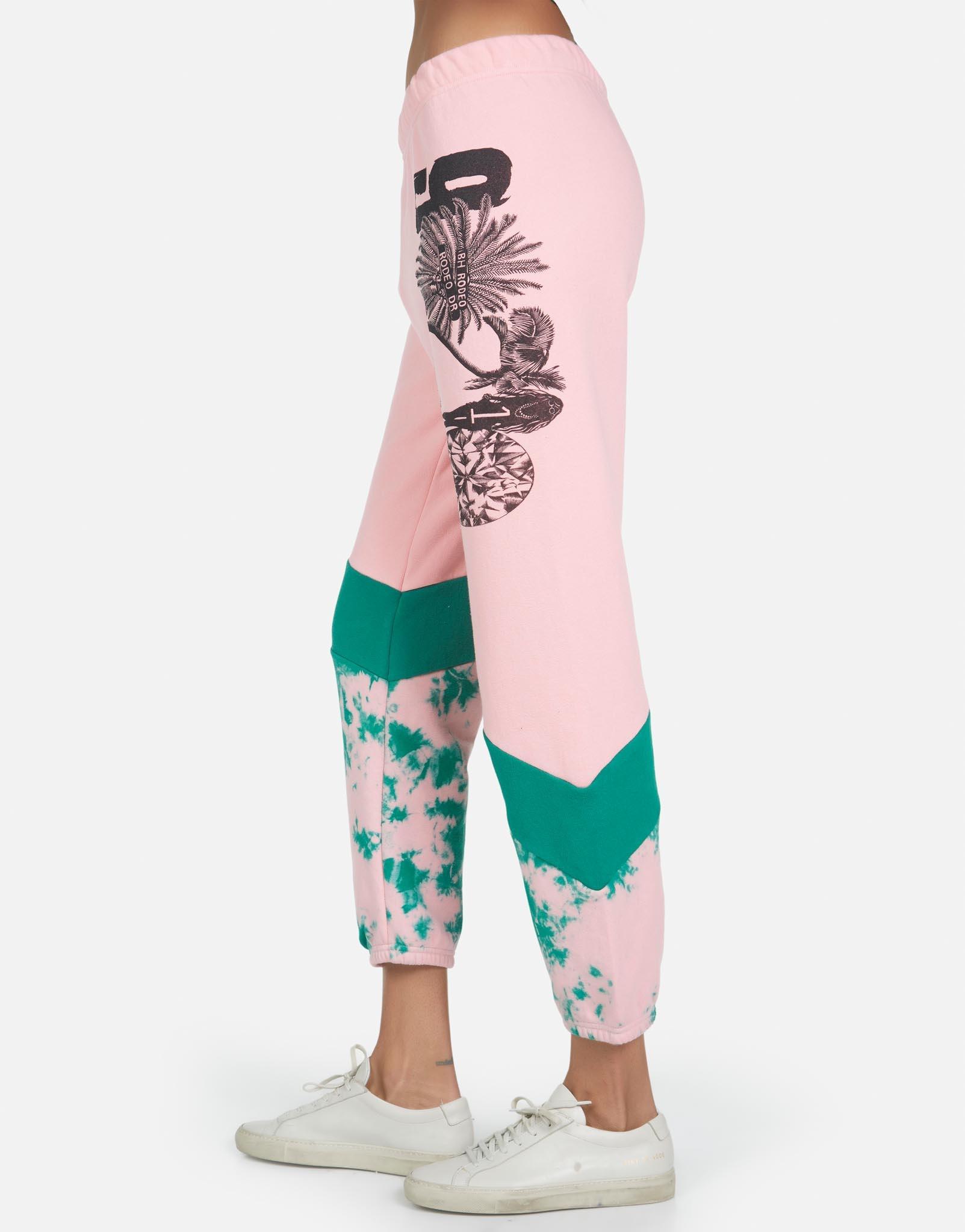 Lauren Moshi Charlene 90210 Diagonal Color Block Sweatpant