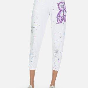Lauren Moshi Annabelle Peace Teddy Chevron Color Block Sweatpant