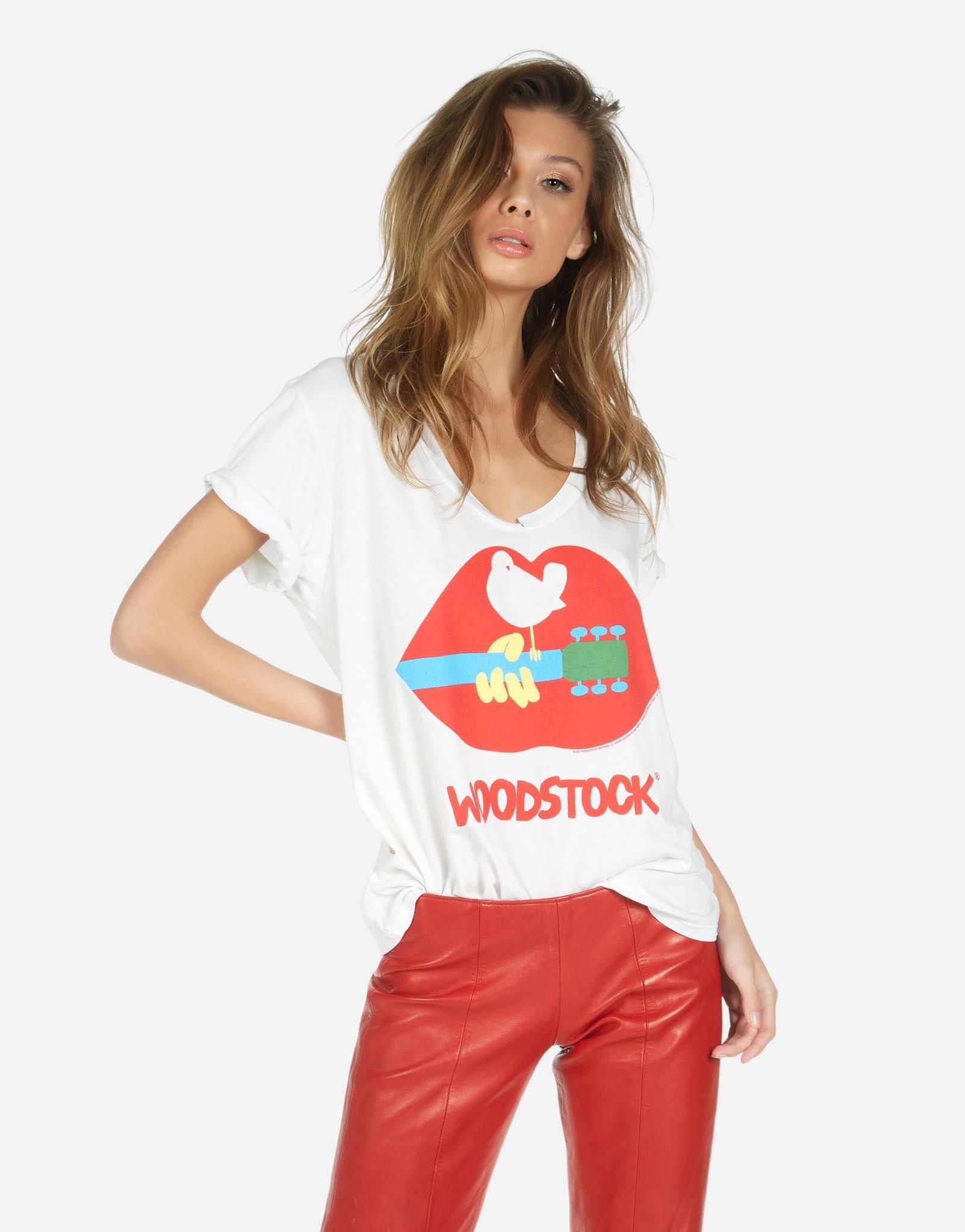 Lauren Moshi Elara - Boyfriend V-Neck - Woodstock Lip