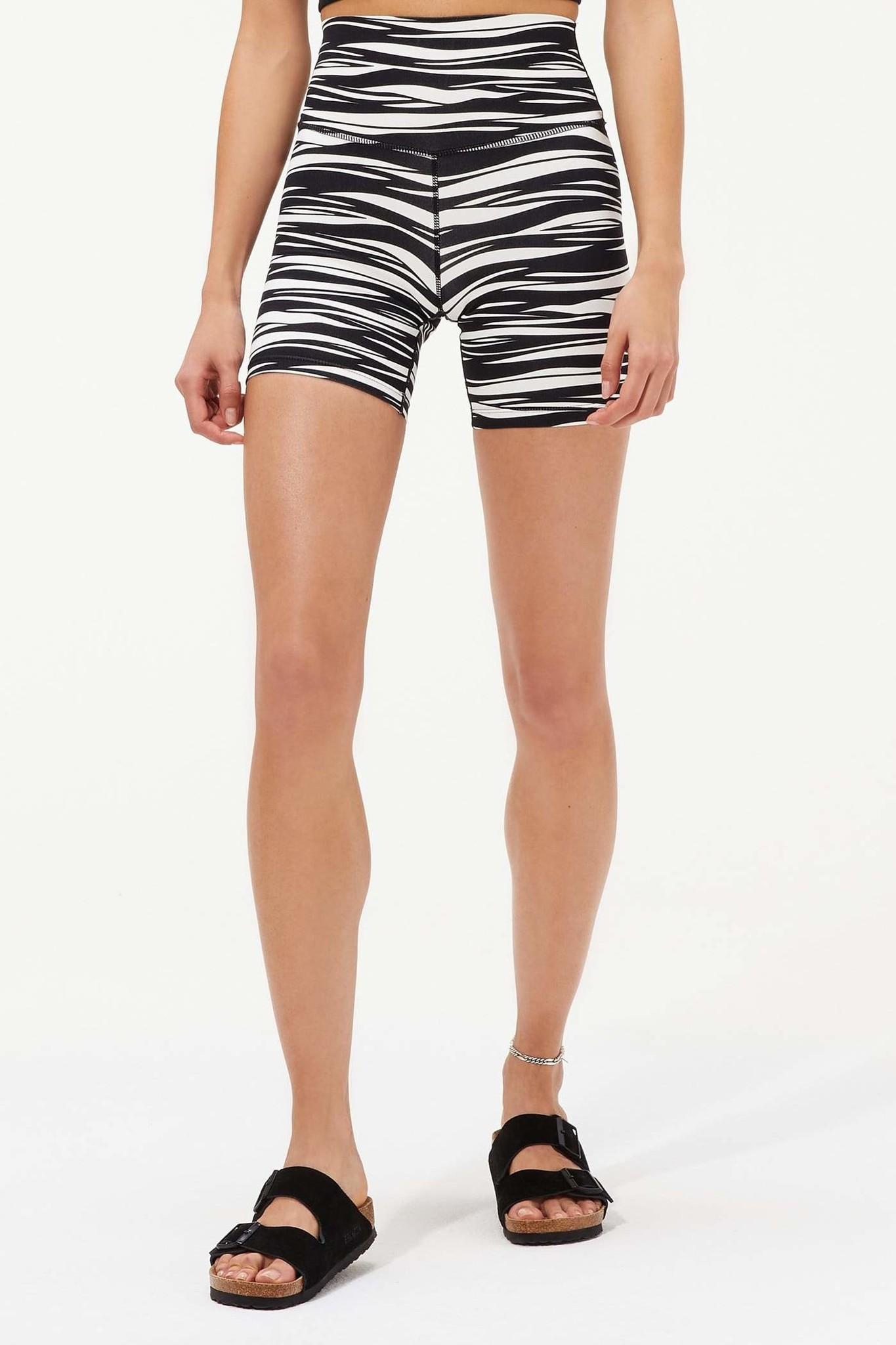 Splits59 Airweight High Waist Short Black Zebra