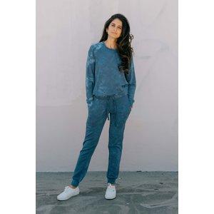 Softwear Womens Pullover Blue Tie Dye