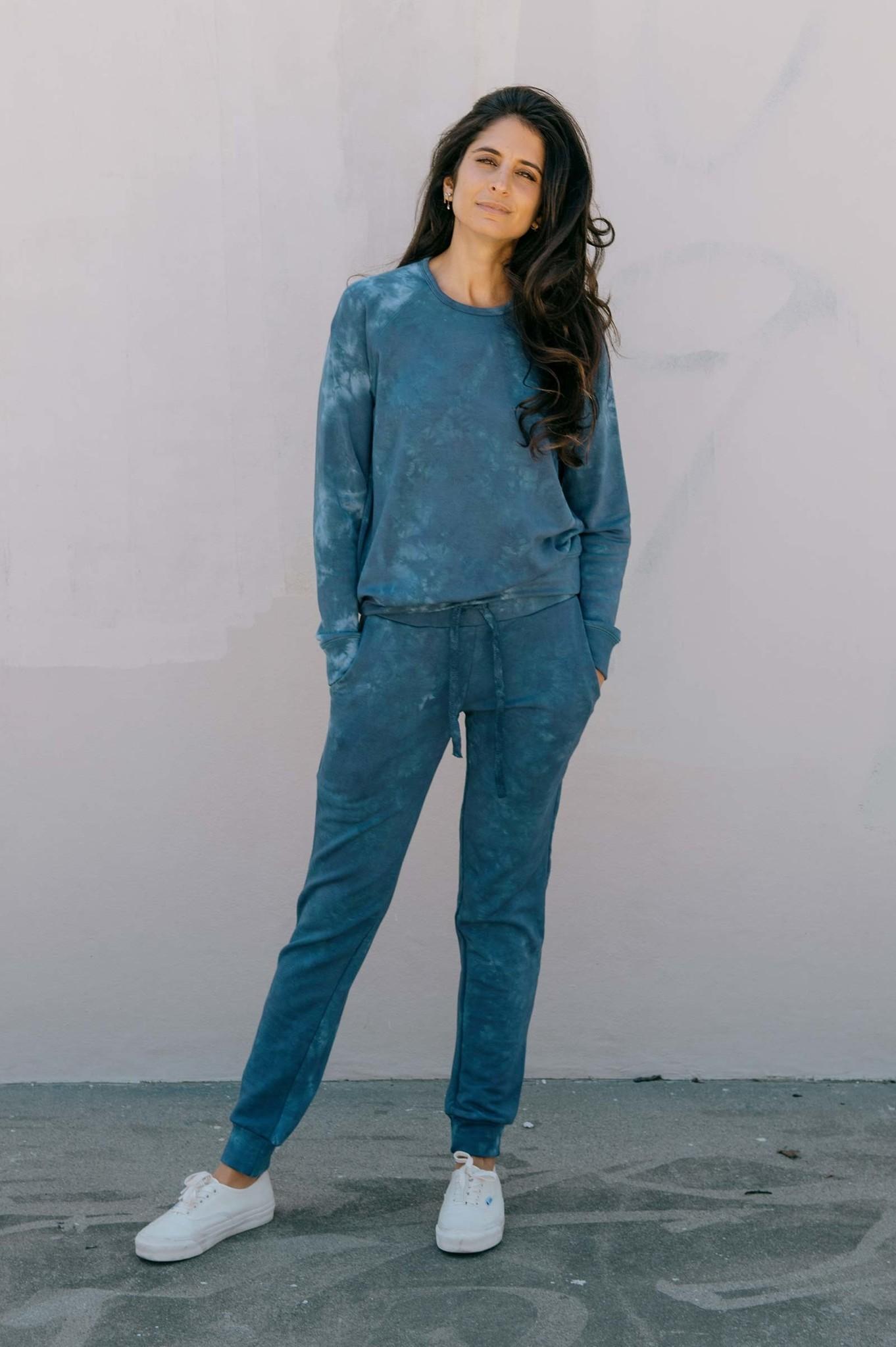 Softwear Womens Pullover Blue Tie Dye XS