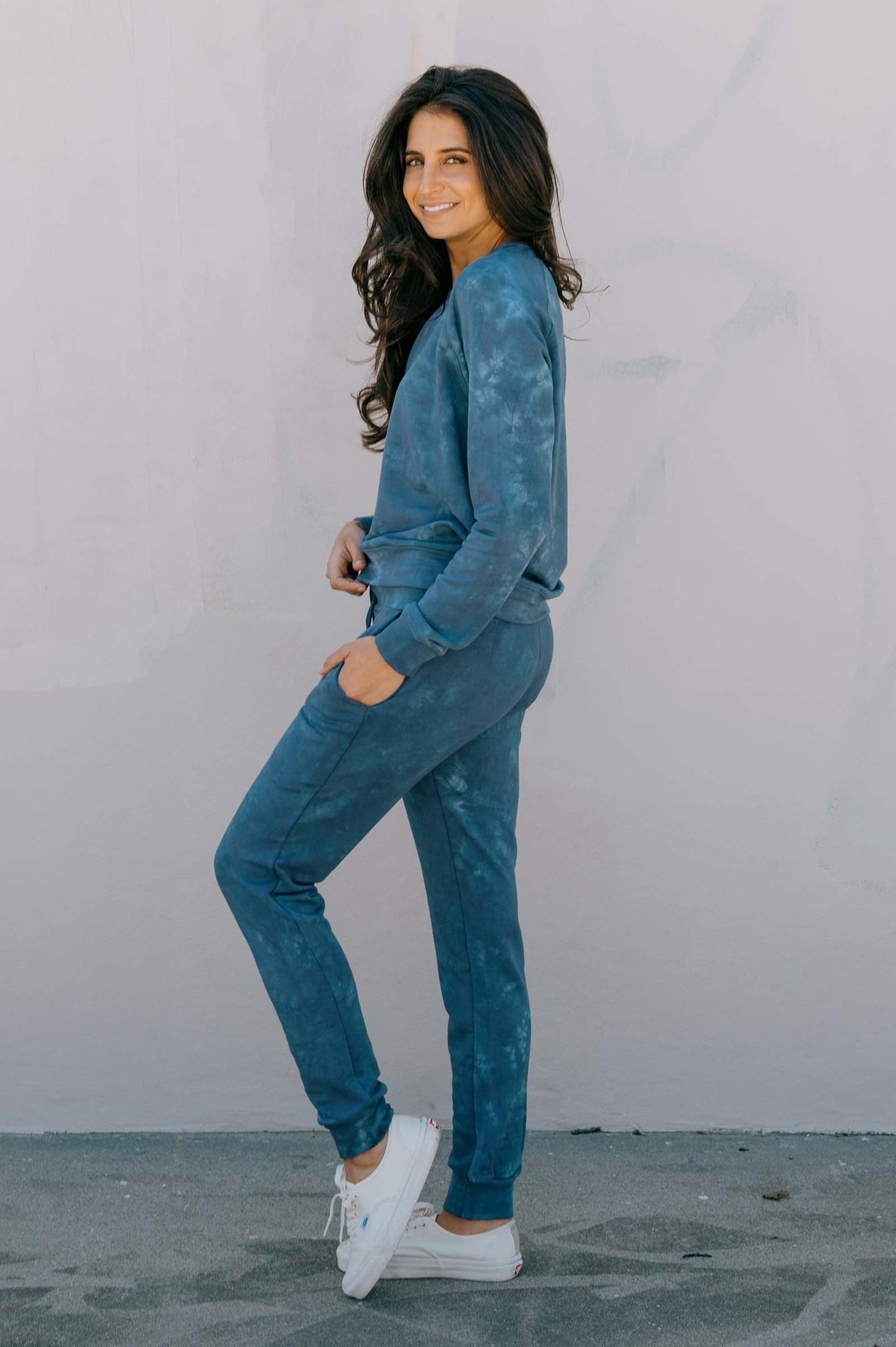 Softwear Womens Pants Blue Tie Dye
