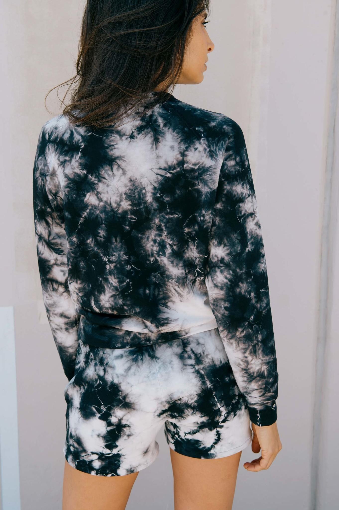 Softwear Womens Pullover Currant Tie Dye