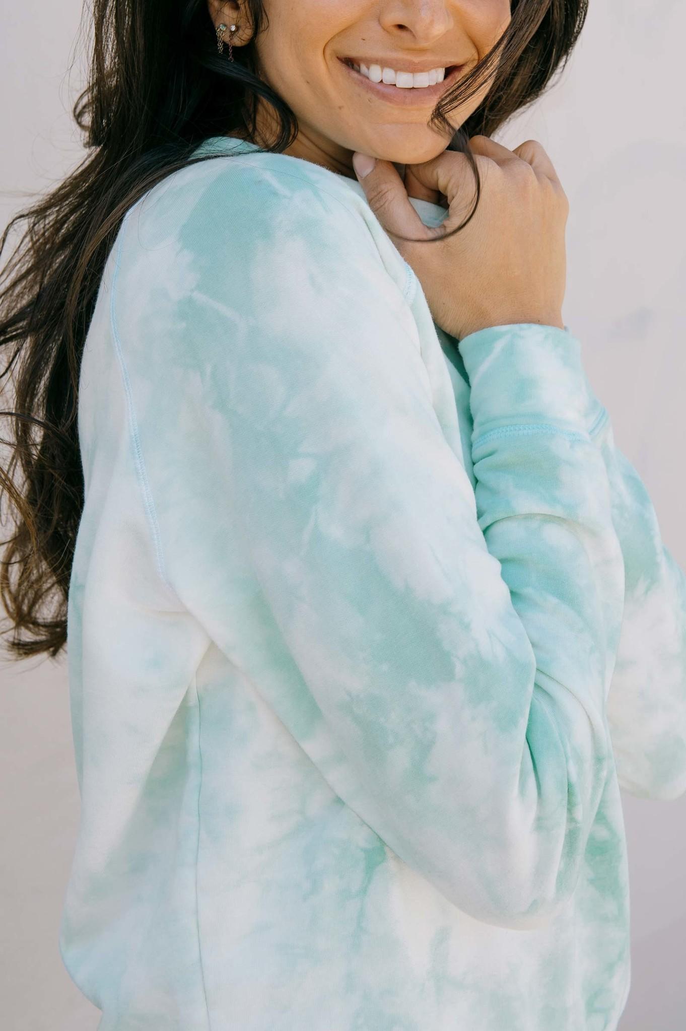 Softwear Womens Pullover Mint Tie Dye