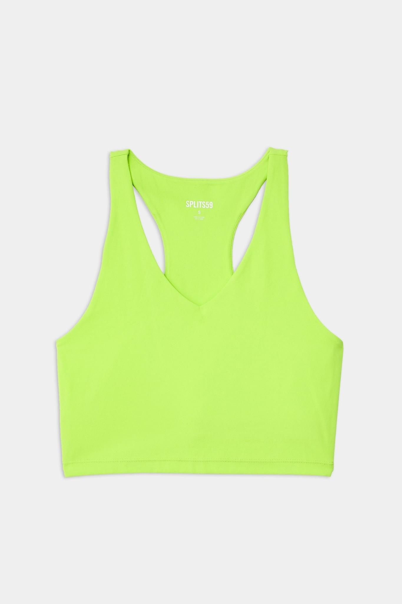 Splits59 Airweight Bralette Neon Lime