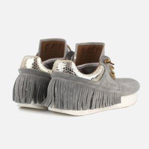 Esseutesse Plaster Suede Fringe Sneakers