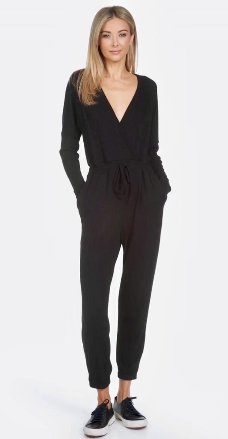 Michael Lauren Knit Front Jumper Black