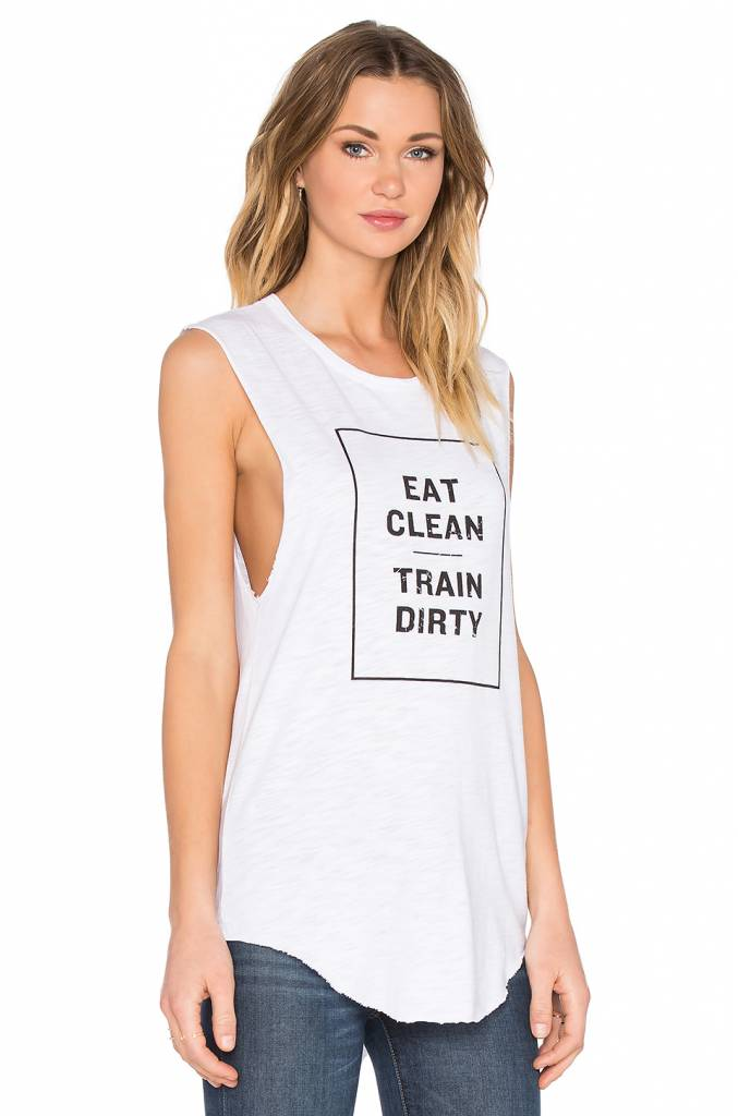 Tyler Jacobs Eat Clean Train Dirty Muscle Tank