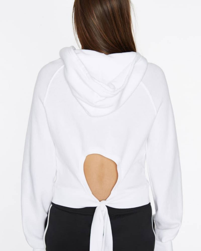 Pam and Gela Keyhole Hollywood Hoodie White