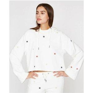 Pam and Gela Crop Sweatshirt Hoodie w/ Star