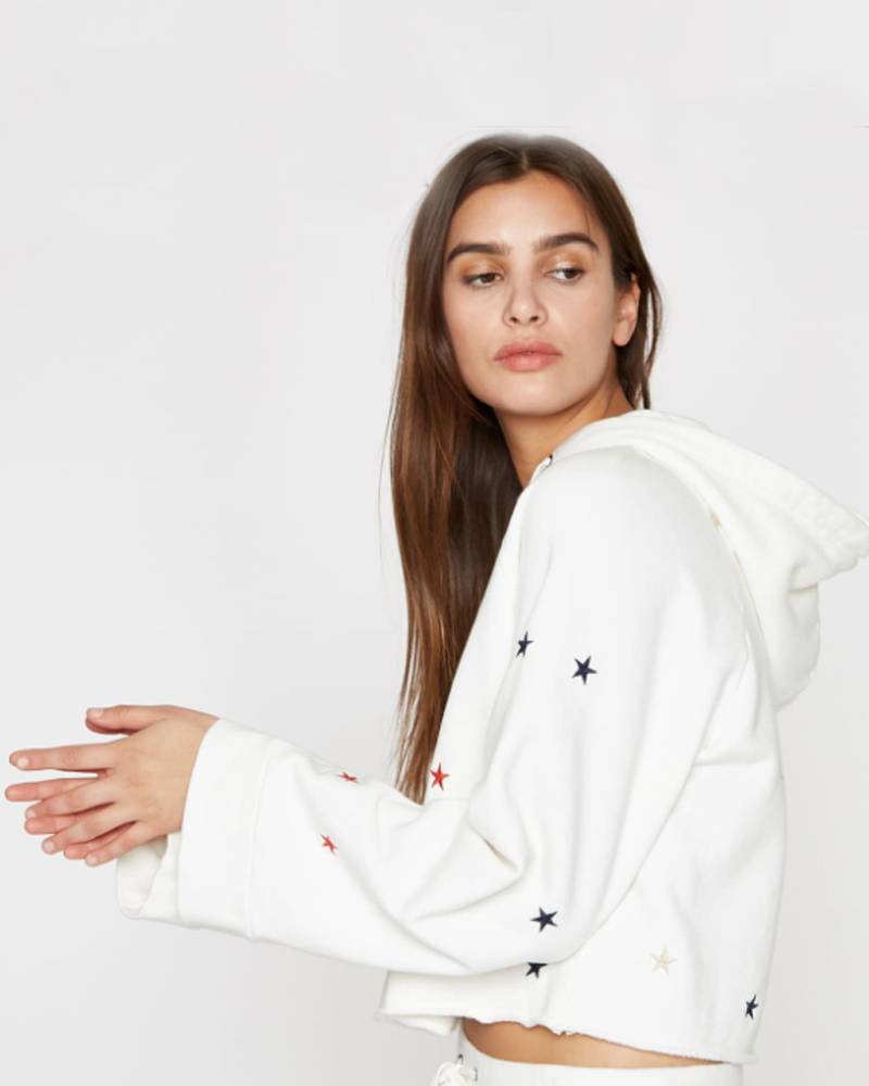 Pam and Gela Crop Sweatshirt Hoodie w/ Star