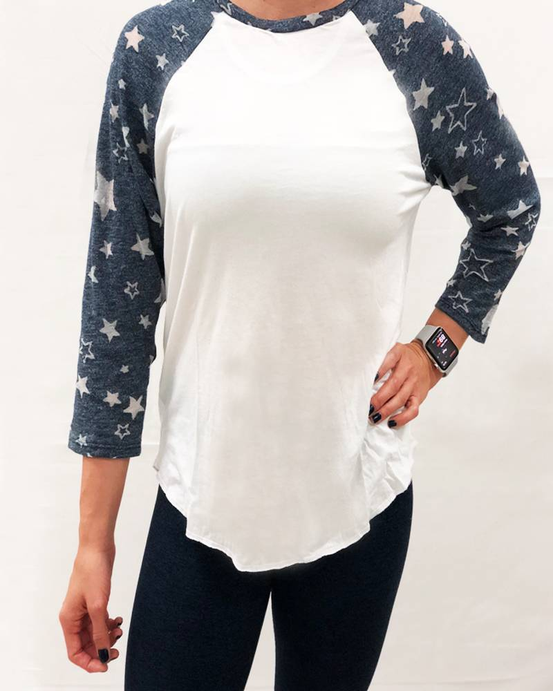 Michael Lauren Harvey BF Raglan Star Burnout
