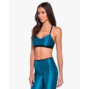 Koral Cable Sports Bra - Calypso Teal