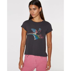Pam and Gela Unicorn Vintage Black Crew Neck