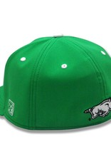 The Game Razorback St. Patrick's Day Baseball Flat Bill Stretch Fit Hat