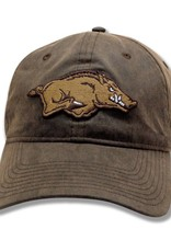 The Game Arkansas Razorback Rugged Leather Looking Hat