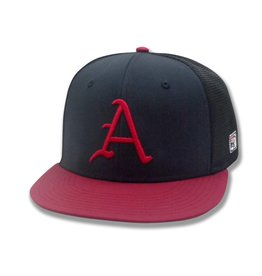 "The Game Arkansas Flat Bill Mesh ""A"" Hat"