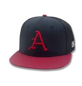"The Game Arkansas Flat Bill Mesh ""A"" Hat"