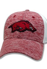 The Game Razorback Heather Cardinal Diamond Mesh Stretch Fit Hat