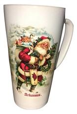 RFSJ Arkansas Razorback 17 OZ Santa Double Sided Latte Mug