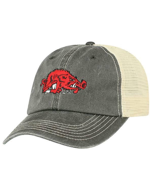 Top Of The World Black & Stone Mesh Slobbering Hog Hat
