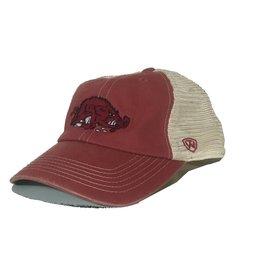 Top Of The World Cardinal/Stone Mesh Slobbering Hog Hat