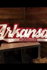 Gameday Ironworks 3D Arkansas Razorbacks Lighted Sign / Wall Art
