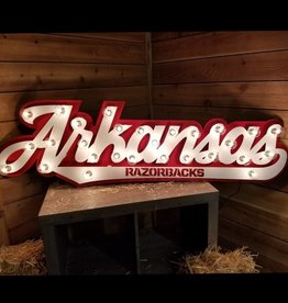 Gameday Ironworks 3D Lit Arkansas Sign