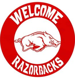 Gameday Ironworks Welcome Razorbacks Circle - Wall Hanging