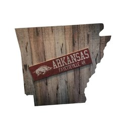"Fan Creations Arkansas State Plank 24"" Sign"