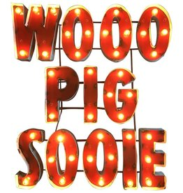 LRT Wooo Pig Sooie Lighted Metal Wall Art