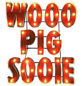 LRT Wooo Pig Sooie Lighted Metal Wall Art