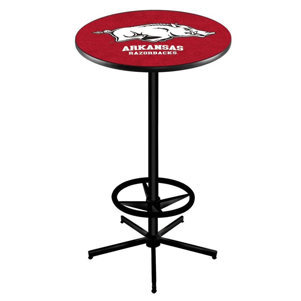 Razorback Bar Pub Table With Foot Ring L216 The Stadium Shoppe