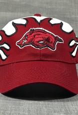 Lloyd Sales Arkansas Razorback Flame Cap
