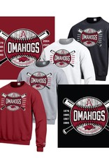 Champion Arkansas Razorbacks OMAHOGS Cross bats Powerblend Crew