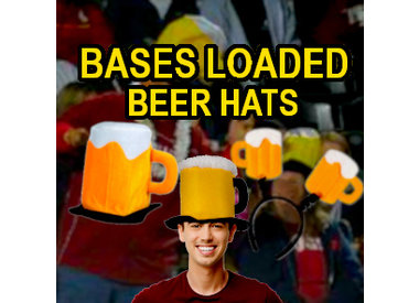 Bases Loaded Beer Hats