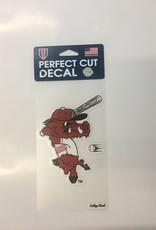 "Wincraft Arkansas Razorback Ribby Perfect Cut Decal 4""x6"""