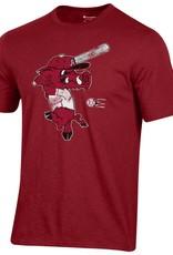 Champion Razorback Baseball Ribby Slub Tee