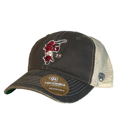 Top Of The World Arkansas Razorback Baseball Ribby Soft Mesh Trucker Hat