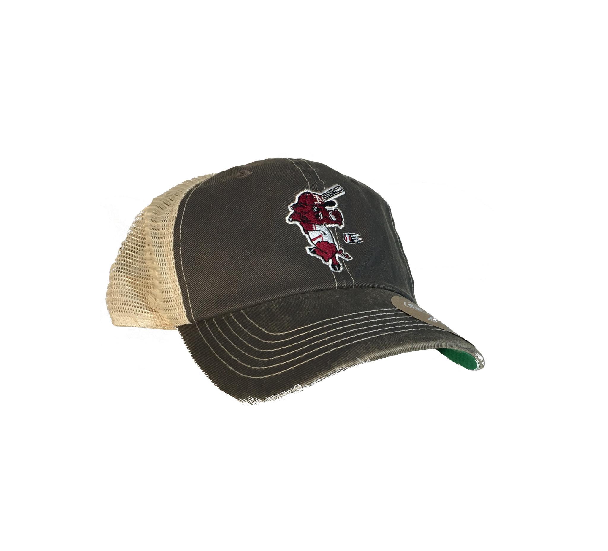 Top Of The World Arkansas Razorback Baseball Ribby Soft Mesh Trucker Hat