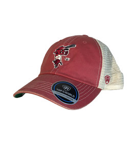 Top Of The World Arkansas Razorback Ribby Soft Mesh Trucker Hat
