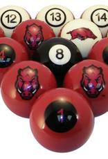 Arkansas Razorback Billiard/Pool Balls
