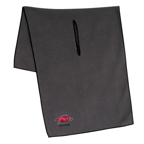 "Arkansas Razorback 19"" X 41"" Grey Microfiber Golf Towel"