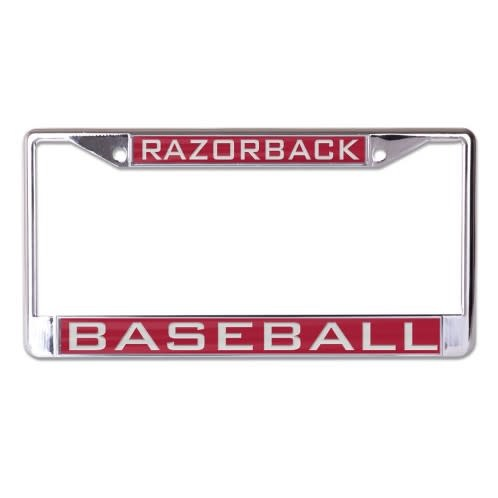 Arkansas Razorback Baseball Metal License Plate Frame