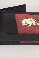 Arkansas Razorback Canvas Leather Wallet