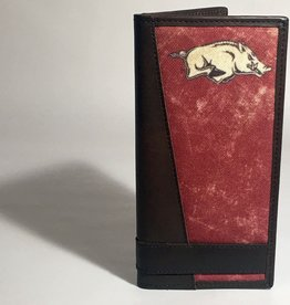 Arkansas Razorback Roper Leather Checkbook Wallet